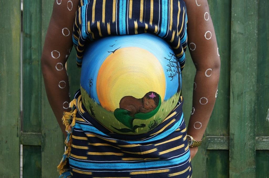 Pintar barriga de gravida