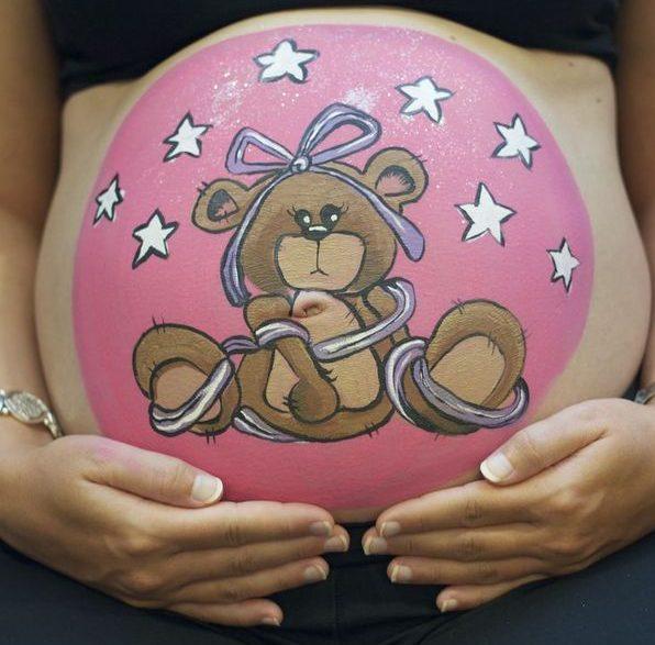 Desenho barriga de gravidez