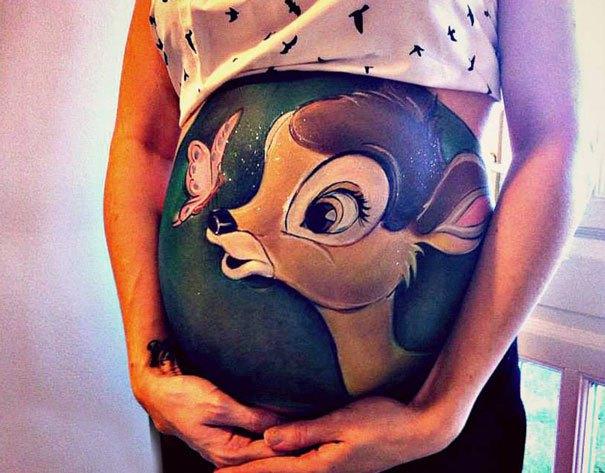 Desenhos para fazer na barriga de gravida