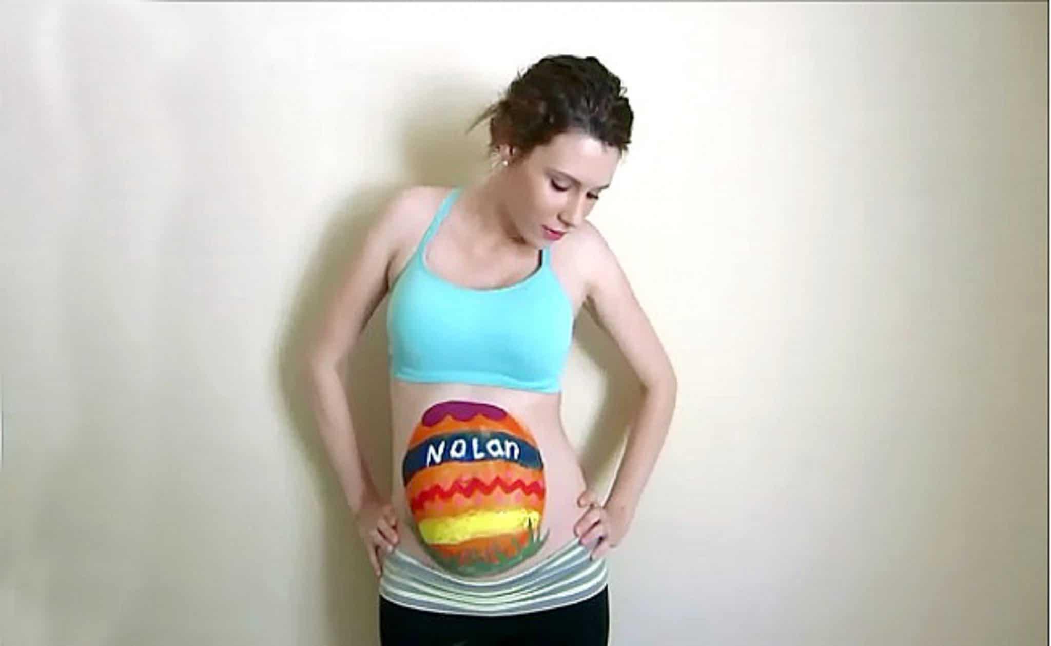 Imagens de desenhos na barriga de gravida