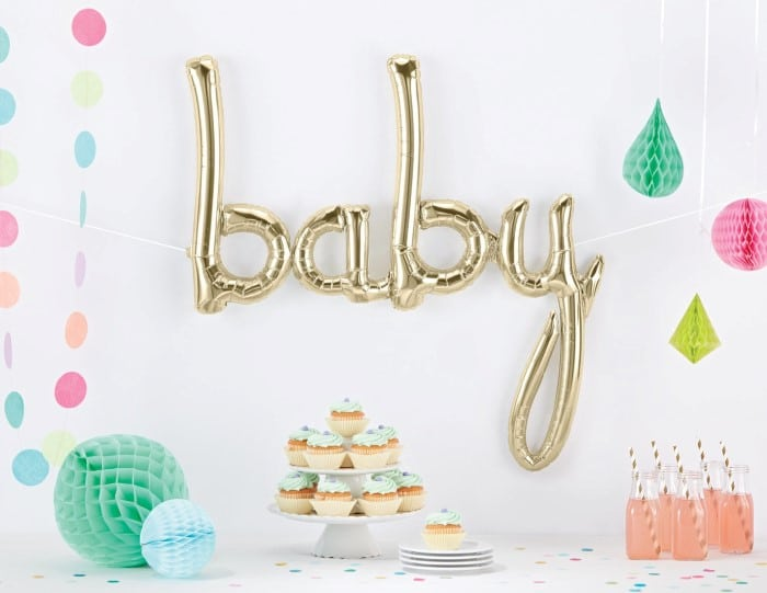 convite de chá de bebê feminino