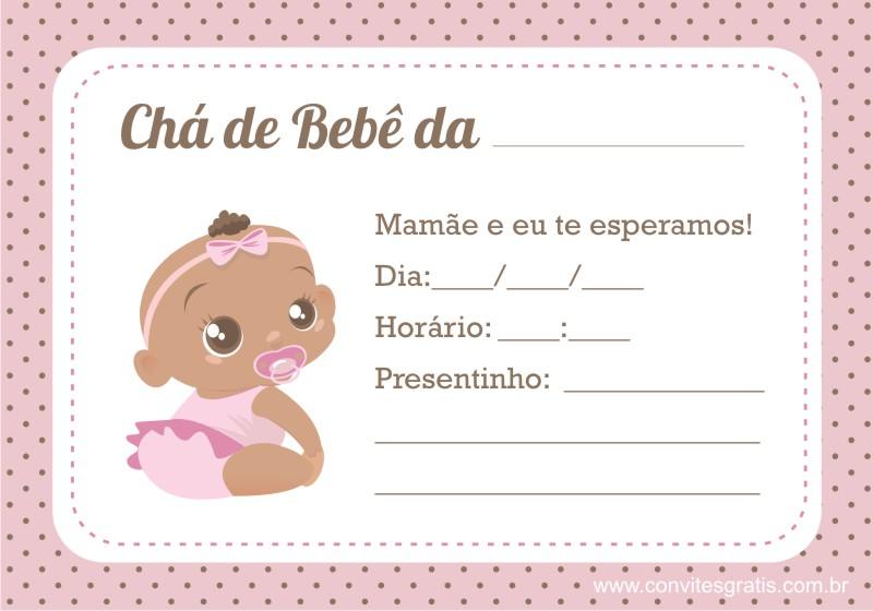 convite de cha de bebe para imprimir e editar