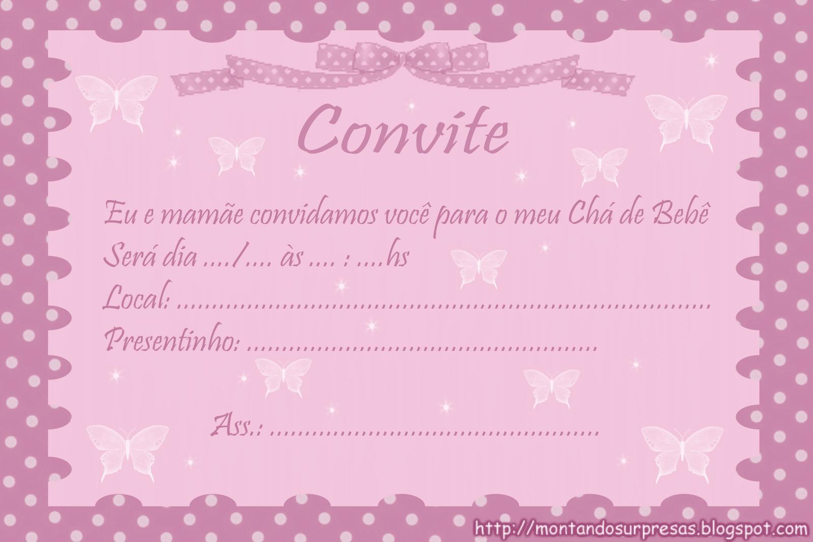 Convites De Cha De Bebe Towerdlugopisyreklamoweco