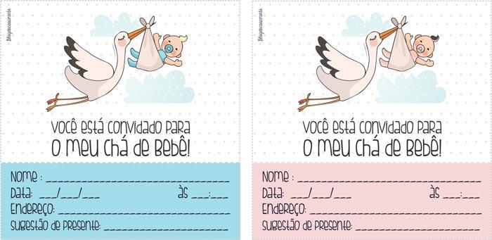 convite de cha de bebe online