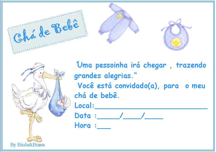 Convite De Chá De Bebê 50 Modelos Criativos