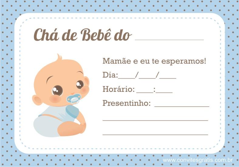 como fazer o convite de cha de bebe