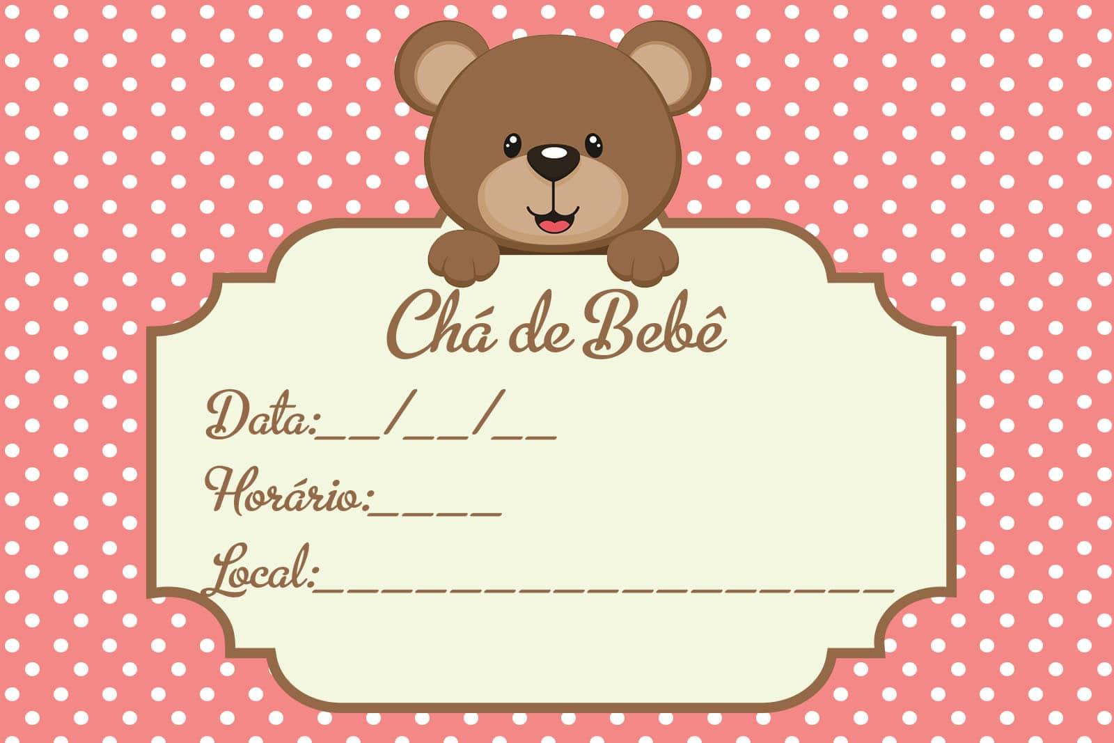 frases para o convite de chá de bebê