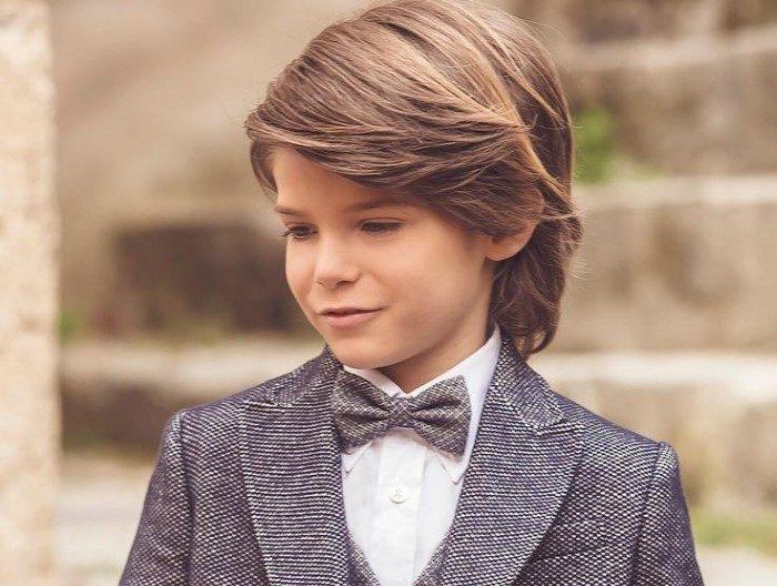 corte de cabelo liso masculino infantil