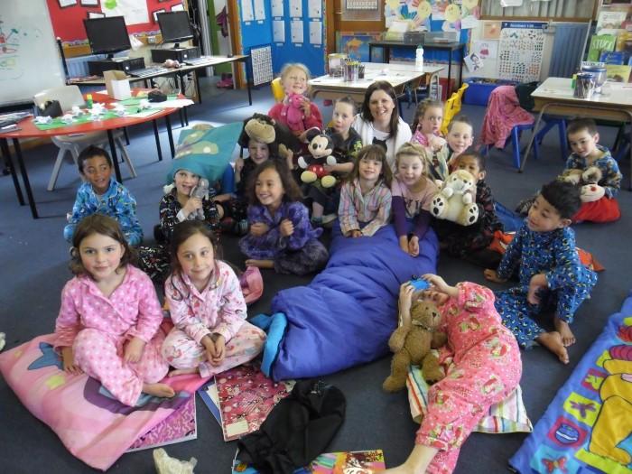 noite do pijama na escola