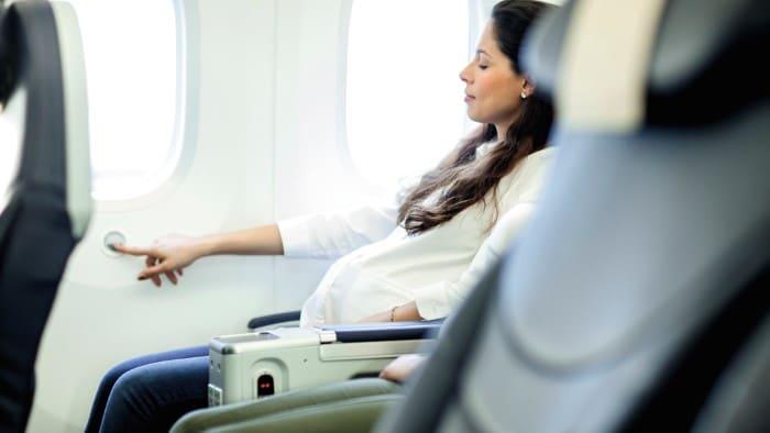 viagem de avião na gravidez