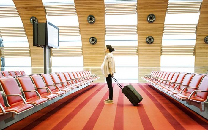 gravida pode viajar de avião gol