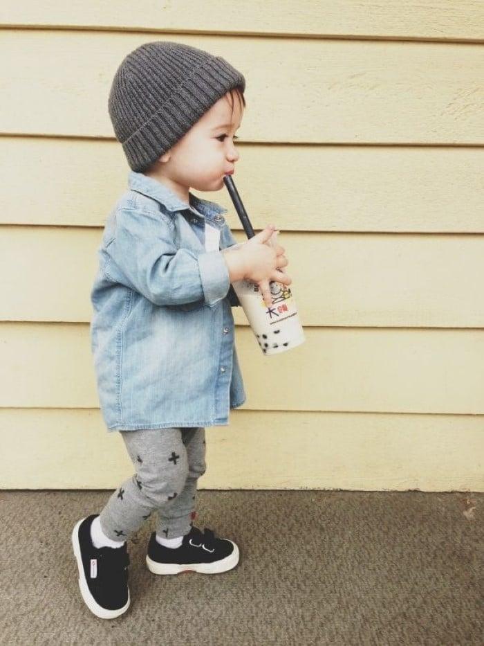 bebê estilo swag