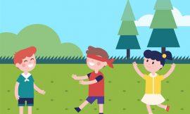 Brincadeiras antigas e atuais de crianças com regras de como brincar