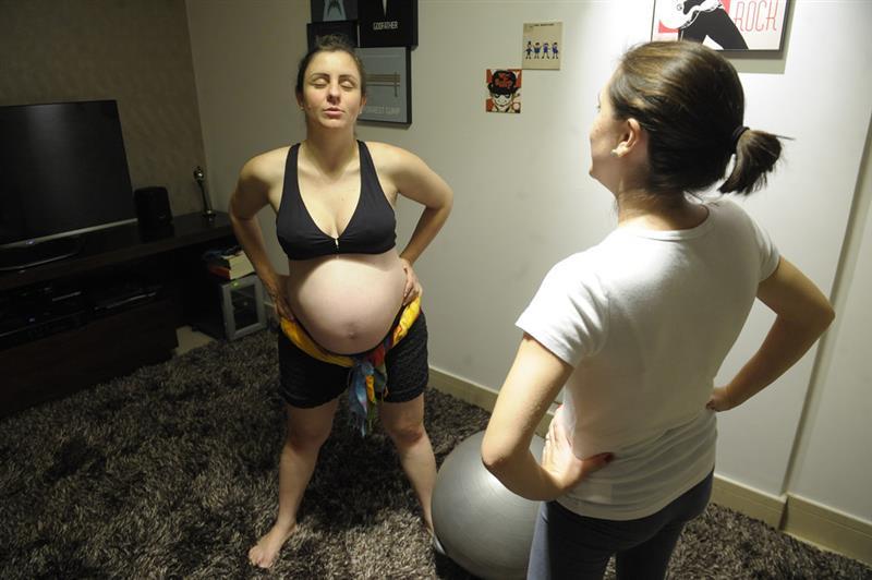 exercicio para colica na gravidez