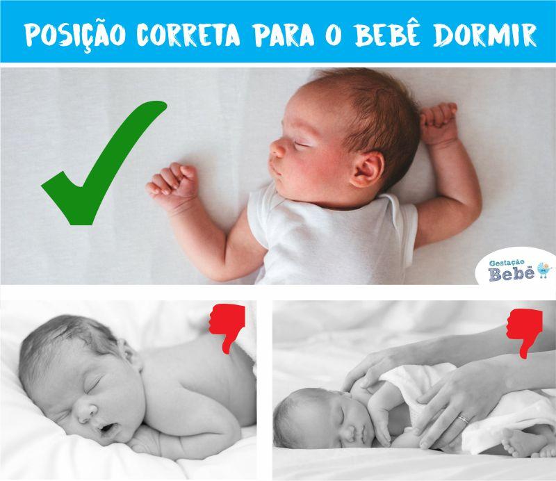 posicao correta para o bebe dormir