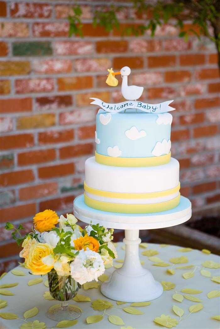 topo de bolo para cha de bebe