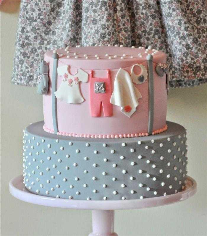 bolo cinza e rosa