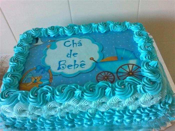 bolo decorado com papel de arroz