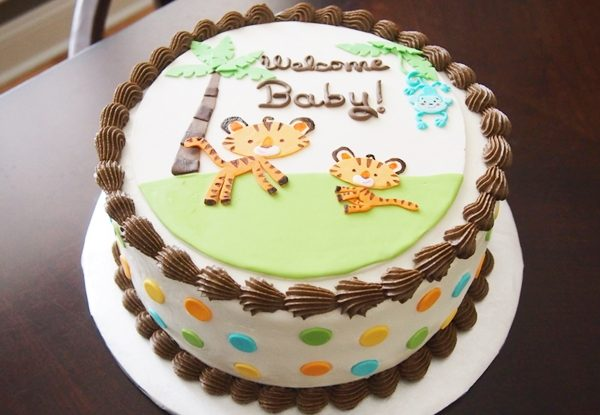bolo para cha de bebe 1 andar