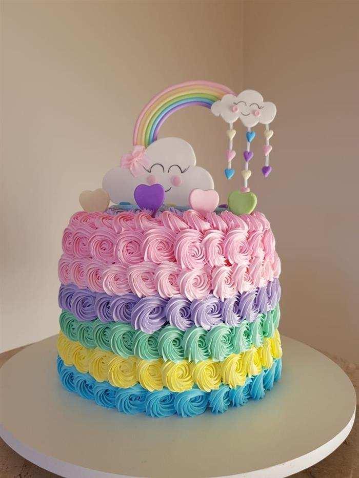 bolo chuva de amor de glace