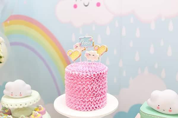 topo de bolo cha de bebe chuva de amor
