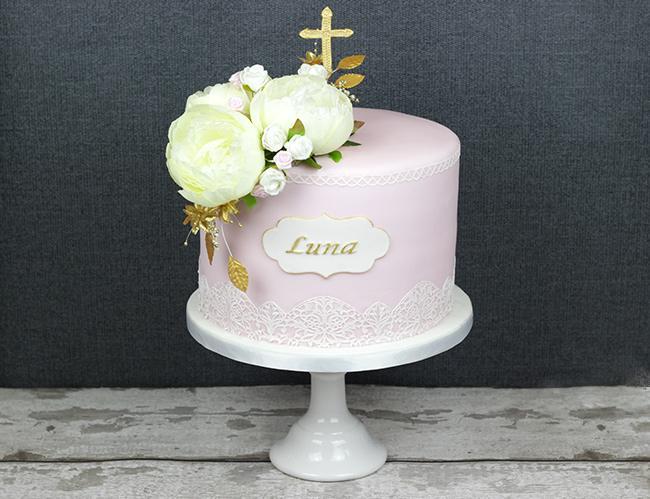 bolo de batizado com nome
