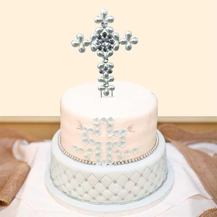 bolo de batizado 2 andares
