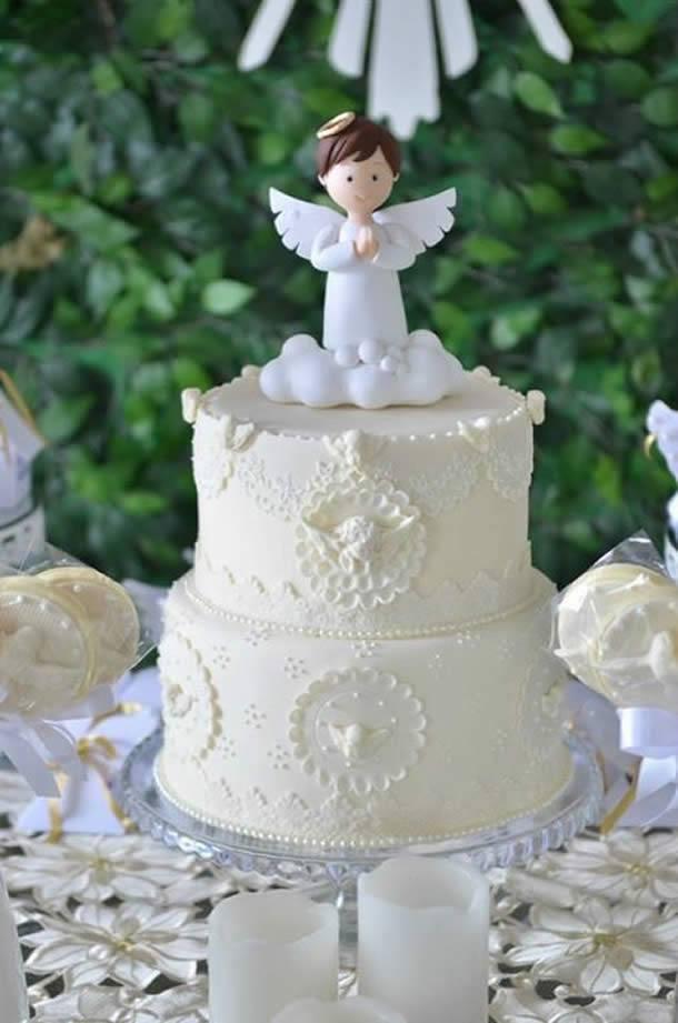 bolo com anjo