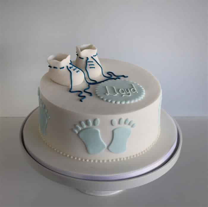 bolo de batizado pasta americana