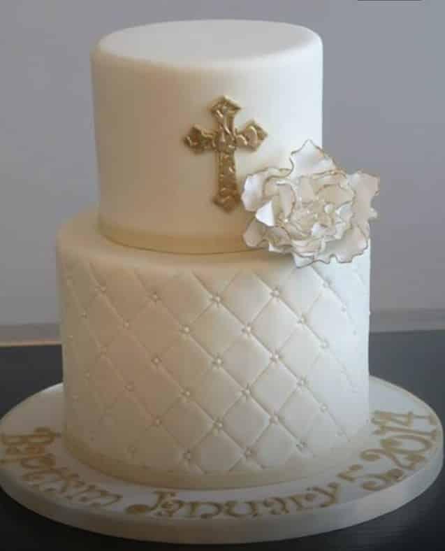 bolo de batizado com glace