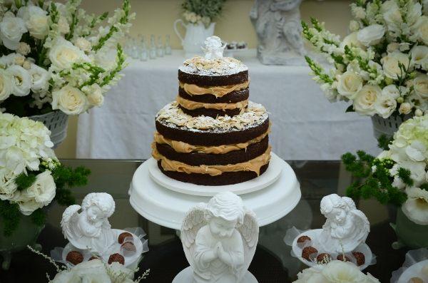 bolo de batizado simples