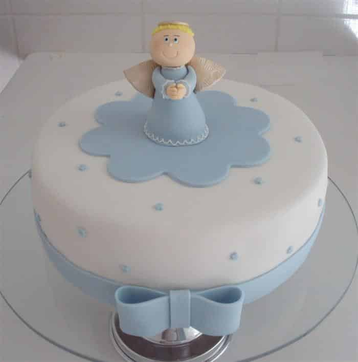 decoração de bolo de batizado