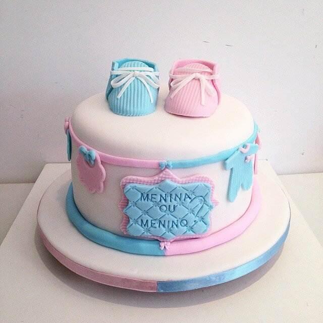 modelo de bolo de cha de bebe