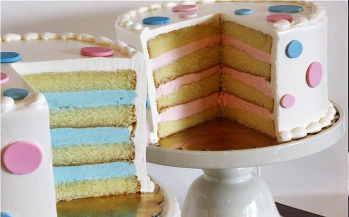 bolo com recheio azul