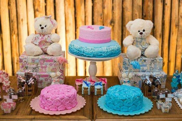 bolos rosa e azul