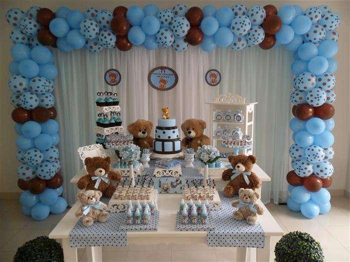 decoração de cha de bebe com baloes