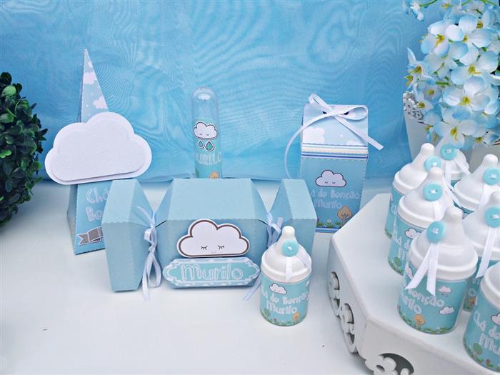 kits personalizados para cha de bebe