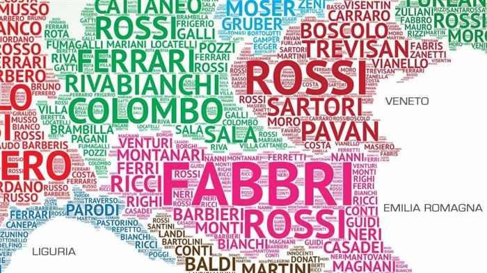 sobrenomes italianos com m