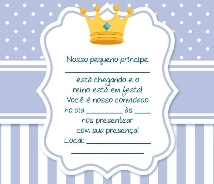 frases para cha de bebe principe
