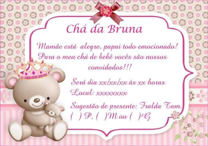 Mensagem De Convite De Cha De Fralda: Frases Para Chá De Bebê