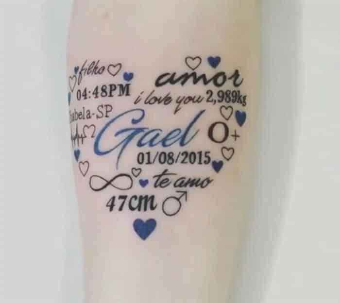 tattoo para filhos