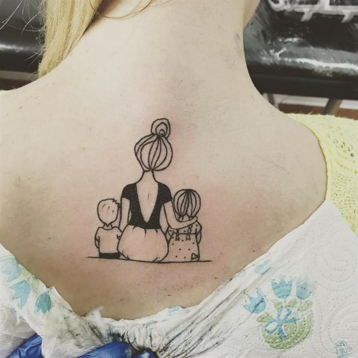 Tatuagens para homenagear filhos gêmeos