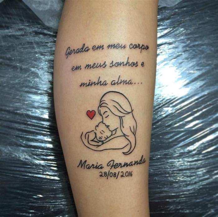 tattoo para homenagem