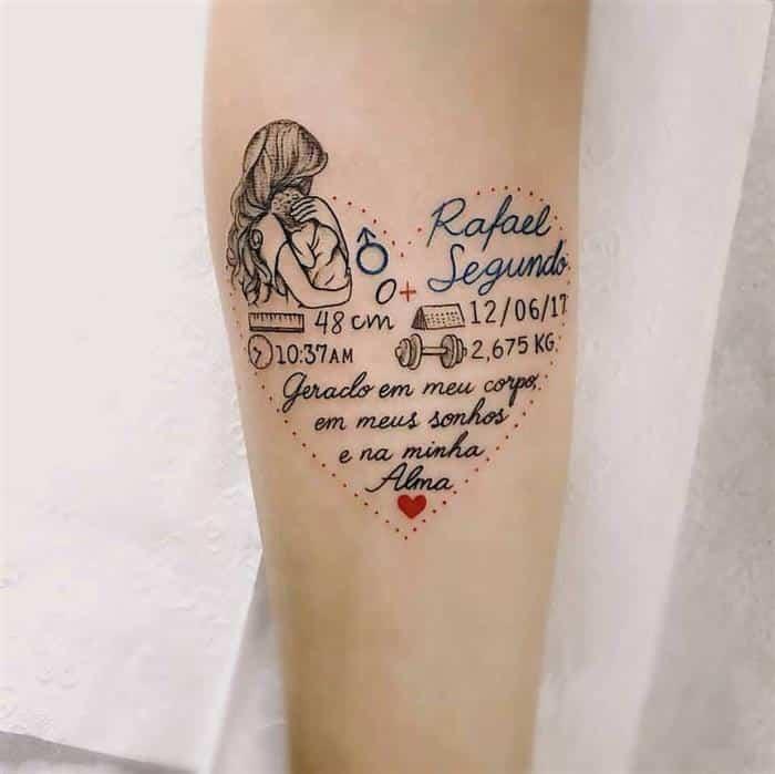 Tatuagem Para Filhos Nomes Desenhos E Frases