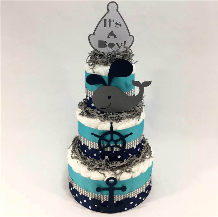 bolo de fraldas tema marinheiro
