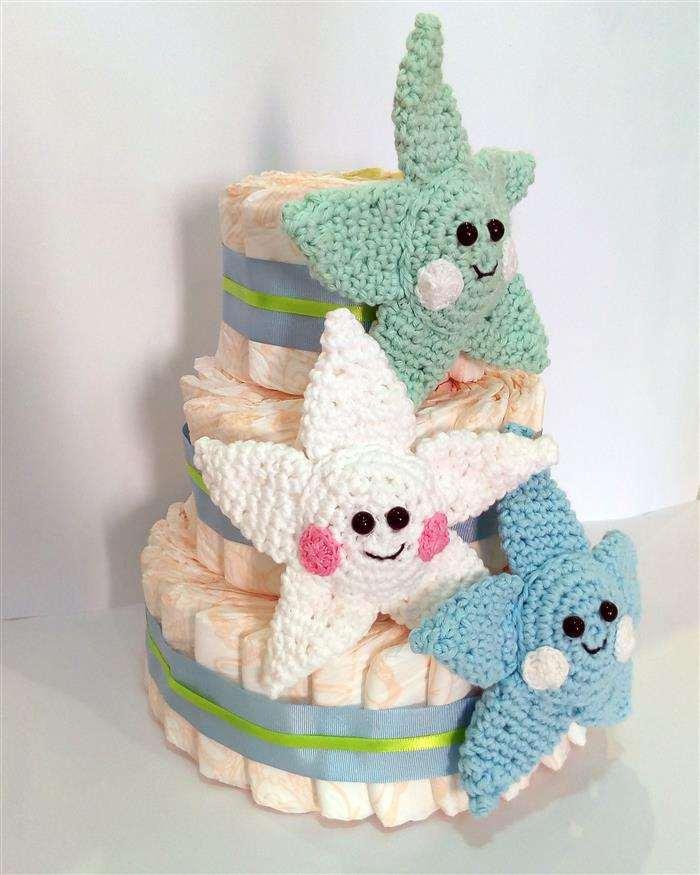 decoração de bolo de fraldas