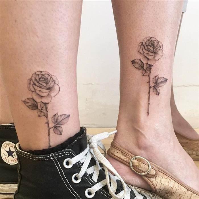 tatuagem de rosas