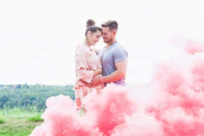 fumaça colorida