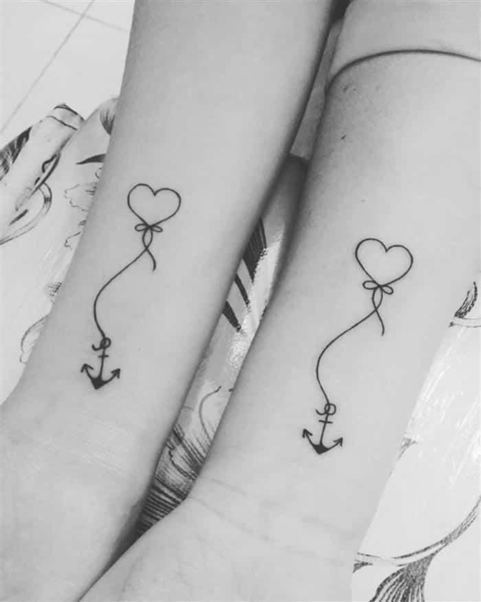 âncora com coração