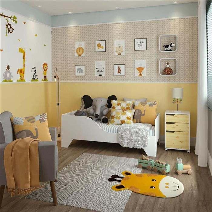 quarto de bebe masculino tema safari